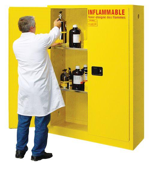 Armoire produits inflammables fermeture manuelle (photo)