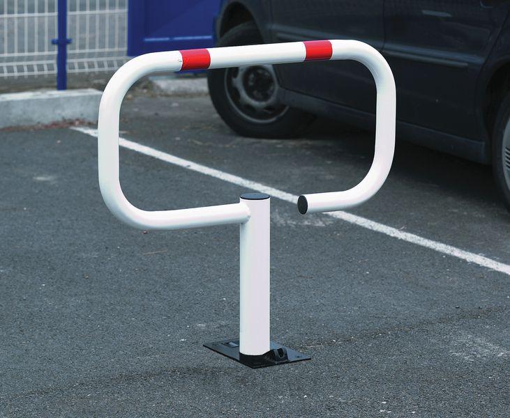 Poteau de parking et arceau rabattables