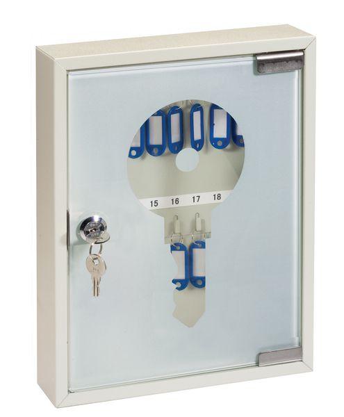 Armoire à clés porte vitrée