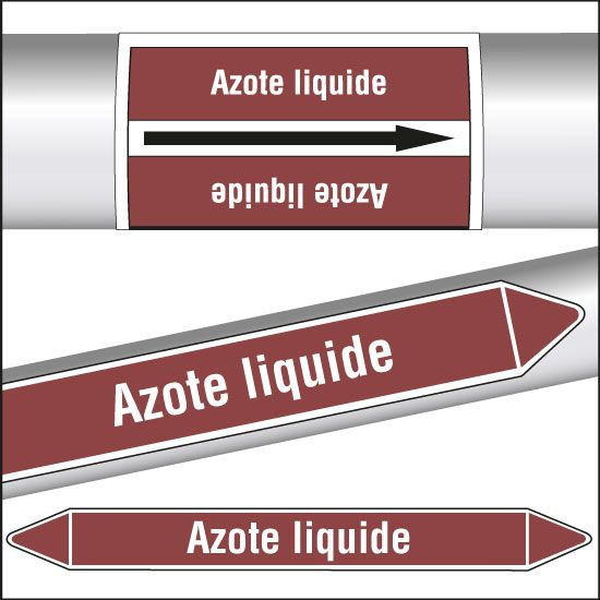 Marqueurs de tuyauterie CLP Azote liquide (photo)