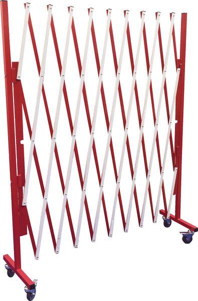 Barrière extensible avec poteau sur roulettes (photo)