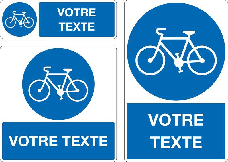 Panneau personnalisé Piste cyclable