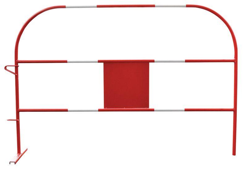 Barrière Eco rouge et blanche en acier