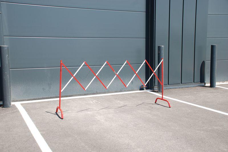 Barrière de chantier extensible droite