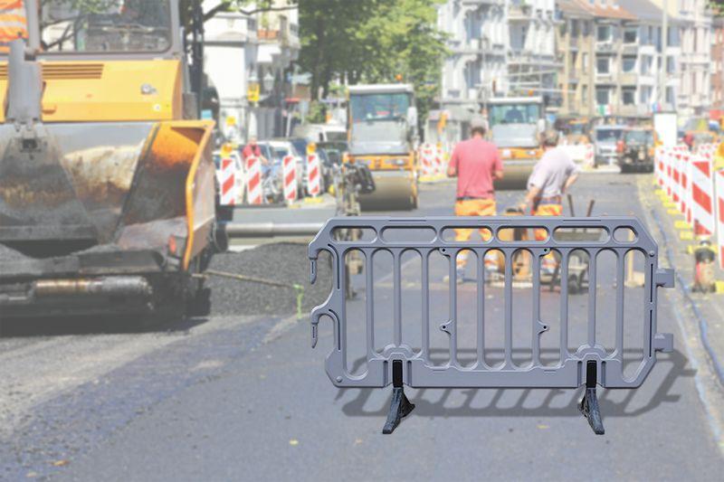 Barrière de police en polyéthylène