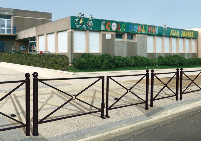 Barrières décoratives tournantes