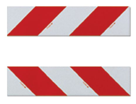 Bandes autocollantes blanc rouge 140 x 560 mm (photo)