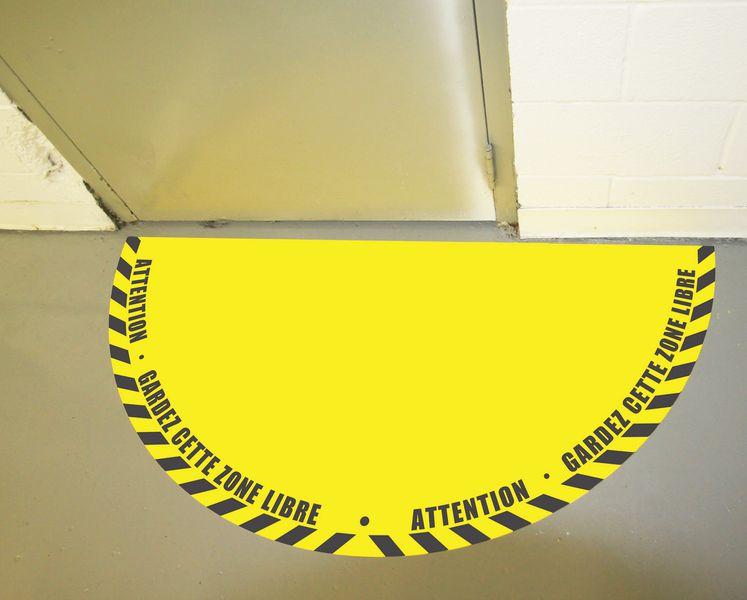 Balisage de porte adhésif 90° ou 180° (photo)