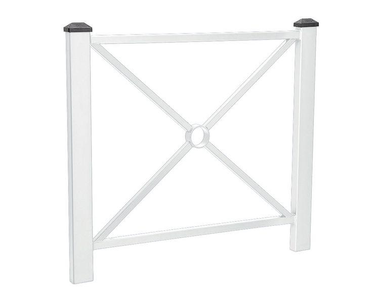 Barrière poteaux carrés (photo)