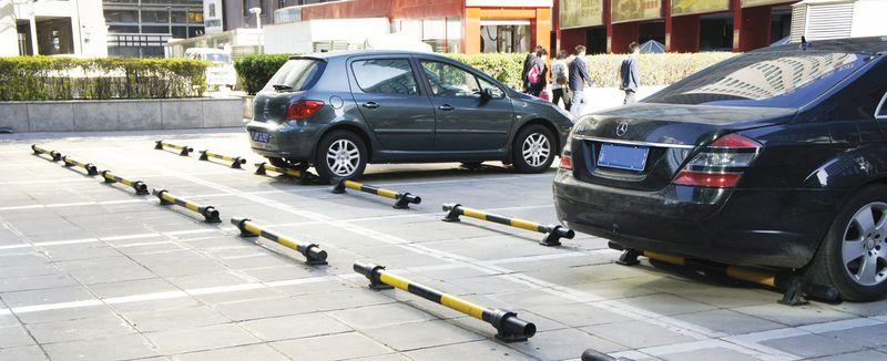 but e de parking m tal jaune noir signals. Black Bedroom Furniture Sets. Home Design Ideas