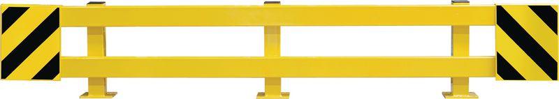 Barrières de protection de rack jaune et noire