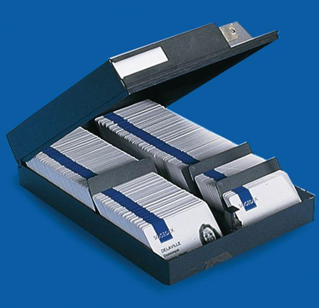 Boîte de rangement sécurisée pour badge avec séparateur