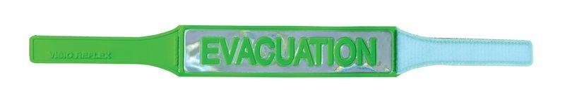 Brassards PVC rétro texte avec marquage en relief