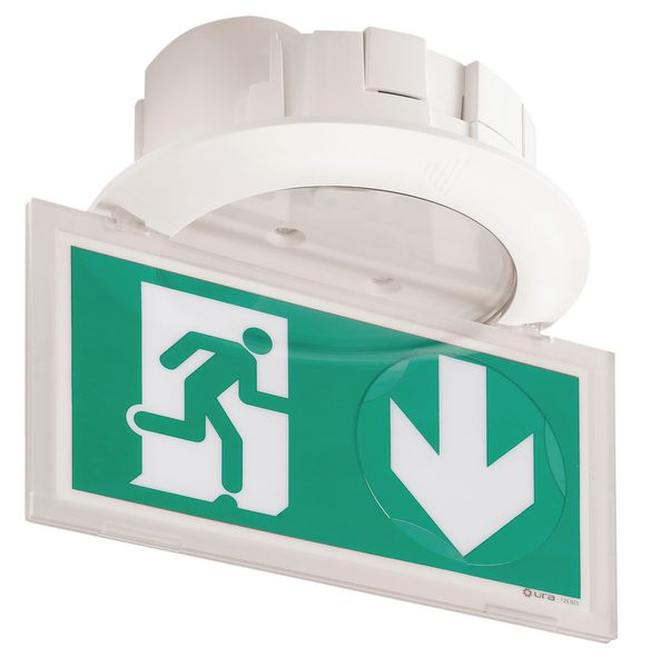 BAES Evacuation encastré plexiglas