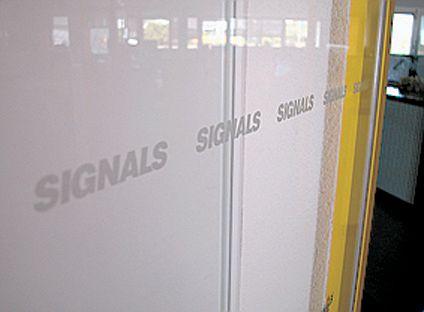 4 bandes autocollantes surfaces vitrées Logos