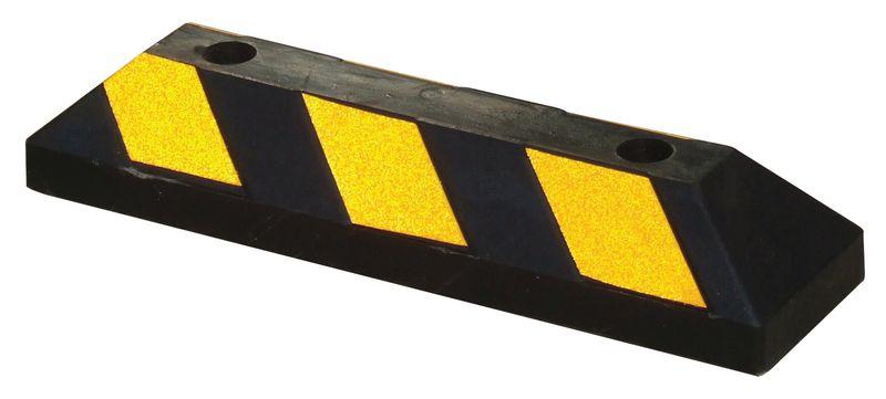 Butées de parking caoutchouc jaune/noir