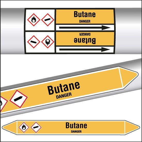 Marqueurs de tuyauterie CLP Butane (photo)