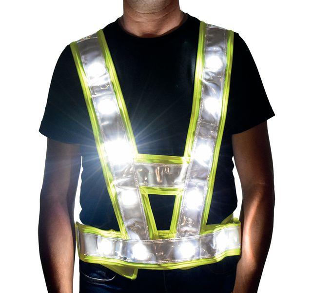 Baudrier haute visibilité LED