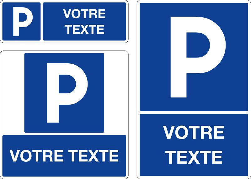 Panneau Parking avec texte personnalisé (photo)