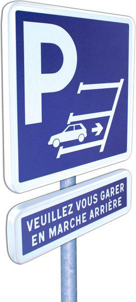 Panneau en alu Cl1 Symbole Marche Arrière (photo)