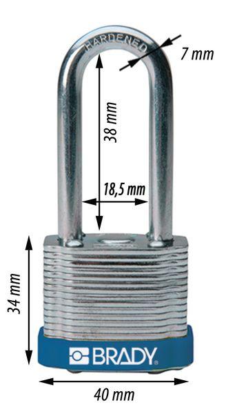 Cadenas en acier trempé Anse hauteur 38 ou 51 mm (photo)