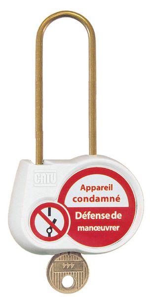 Cadenas de condamnation couleur anse Ø 6 mm