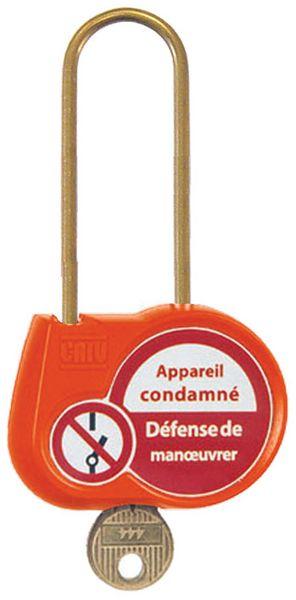 Cadenas de condamnation couleur anse Ø 6 mm (photo)