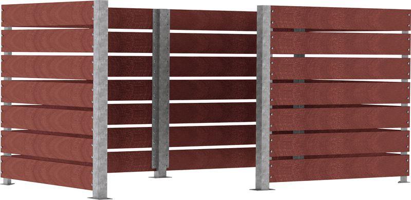 Poteaux pour cache-conteneurs modulable (photo)