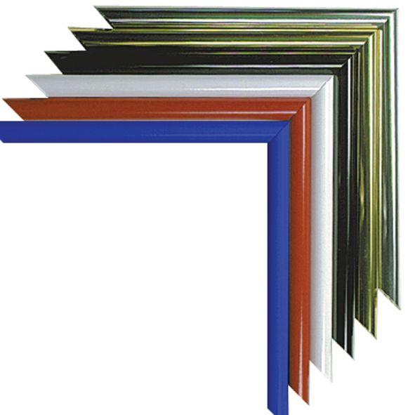 Cadre aluminium pour affiche avec façade Plexi (photo)