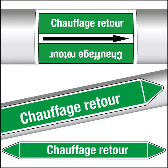 Marqueurs de tuyauterie CLP Chauffage retour (photo)