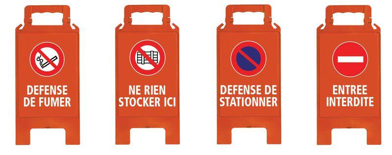 Chevalet de signalisation vierge (photo)