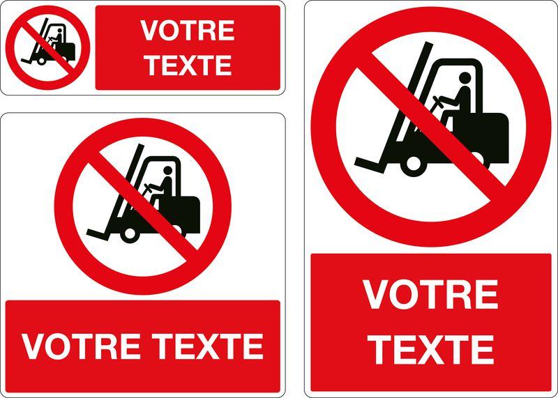 Panneau personnalisé Interdit aux chariots (photo)