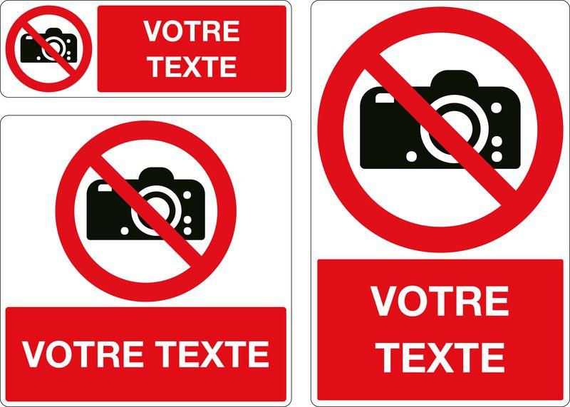 Panneau personnalisé Photos interdites