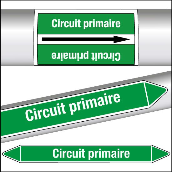 Marqueurs de tuyauterie CLP Circuit primaire (photo)