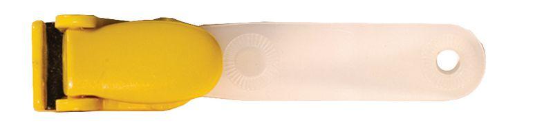 Clips à bretelles pour badge en plastique Jaune (photo)