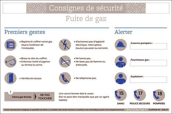 Consigne de sécurité chaufferie et gaz