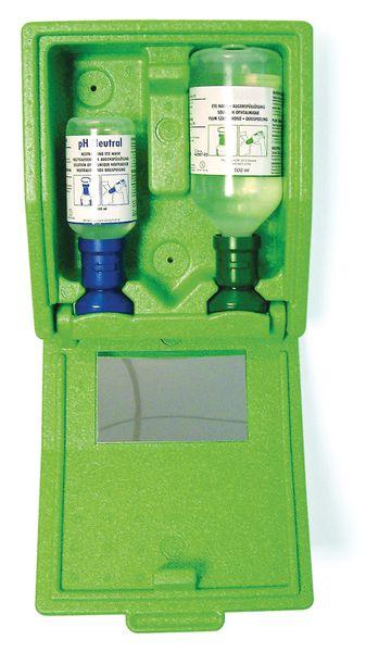 Coffret d'urgence oculaire solution saline/neutre (photo)