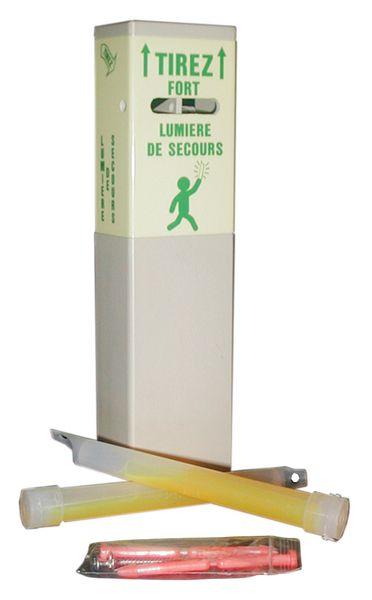 Boîtier distributeur photolum pour bâtons lumineux