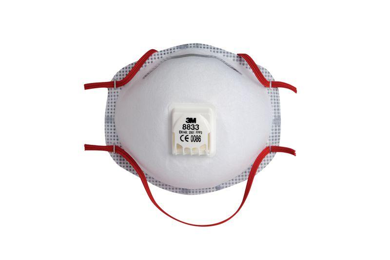 10 Masques 3M™ Jetables FFP3 à valve