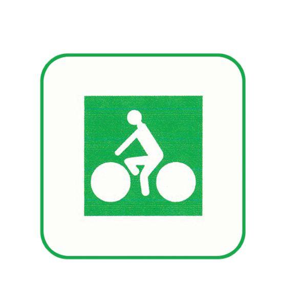Panneau de jalonnement des pistes cyclables Picto seul