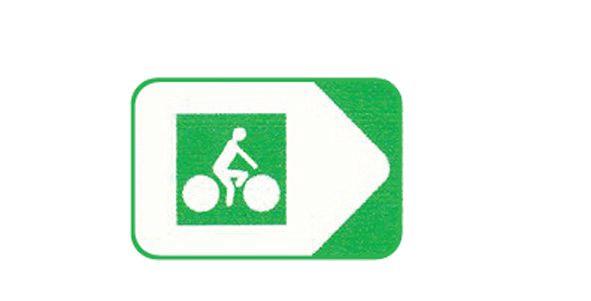 Panneau de jalonnement pistes cyclables Picto/Fléche