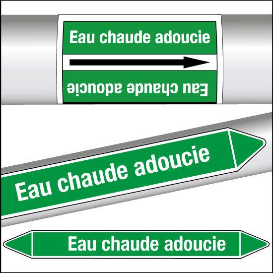 Marqueurs de tuyauterie CLP Eau adoucie (photo)