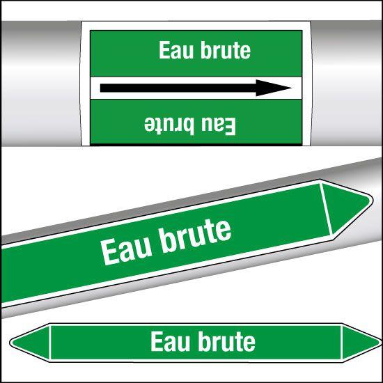 Marqueurs de tuyauterie CLP Eau brute (photo)