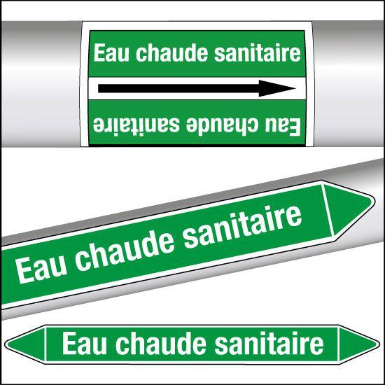 Marqueurs de tuyauterie CLP Eau chaude sanitaire (photo)