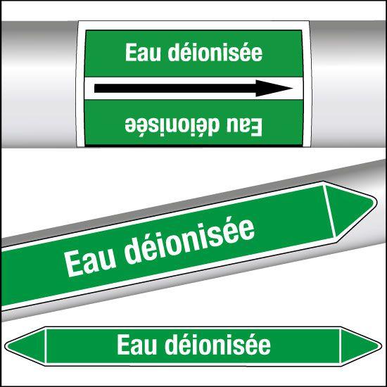 Marqueurs de tuyauterie CLP Eau déionisée (photo)