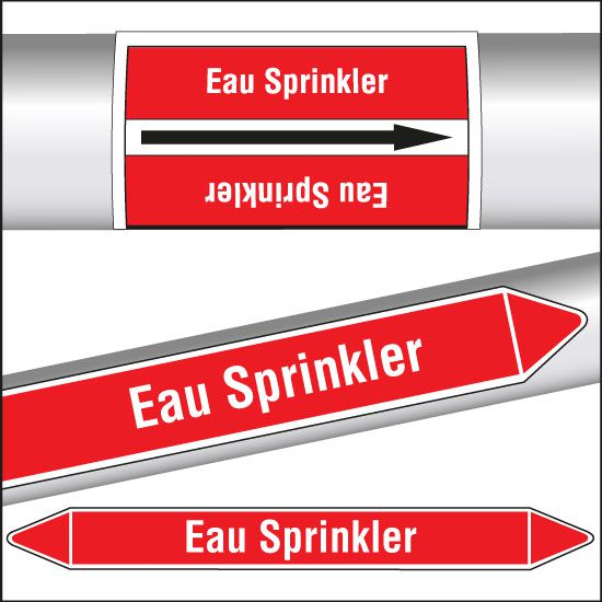 Marqueurs de tuyauterie CLP Eau sprinkler