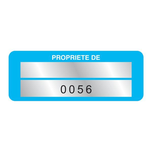 Etiquettes de propriété numérotation personnalisables (photo)