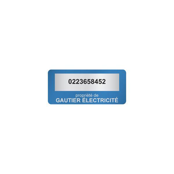 Etiquettes adhésives de propriété couleur (photo)