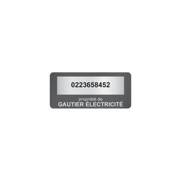 Etiquettes adhésives de propriété avec numérotation