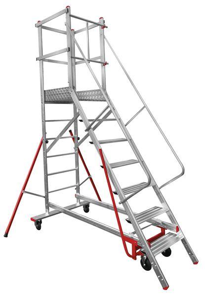 Escabeaux roulants en aluminium capacité 150 kg